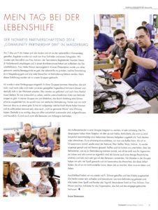 Der Novartis Partnerschaftstag 2014 -Mein Tag bei der Lebenshilfe - Beitrag aus der SALUTAS Pharma GmbH Zeitung(1)