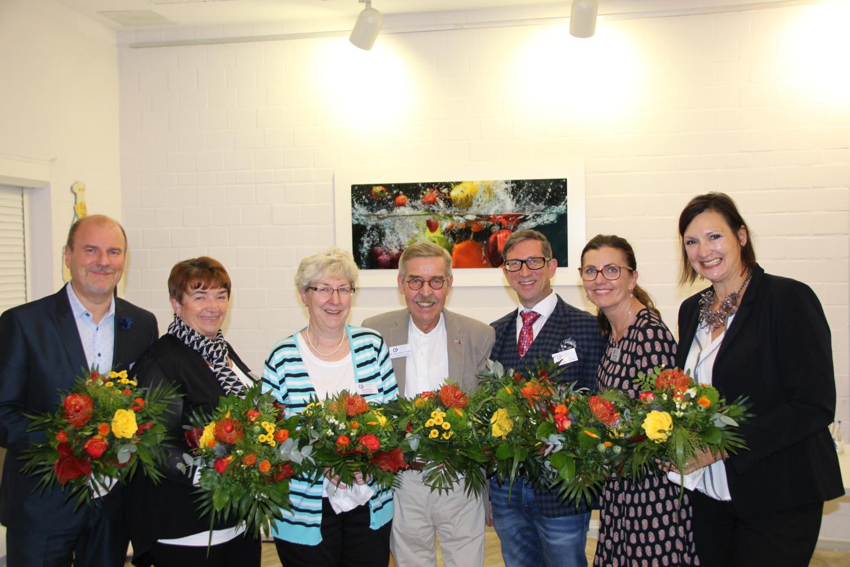 (von links nach rechts): Holger Wolter, Susanne Pick, Elke Paulus, Dr. Klaus-Dieter Pantke, Jens Burkart, Viktoria Kühne, Prof. Dr. Angela Kolb-Janssen (MdL)